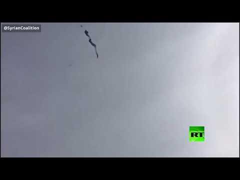 شاهد فيديو جديد لإسقاط مروحية الجيش السوري في ريف حلب