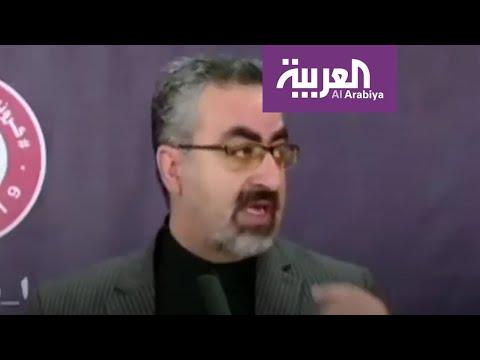 شاهد مشاهد لمسؤول إيراني يتصبب عرقا على الهواء