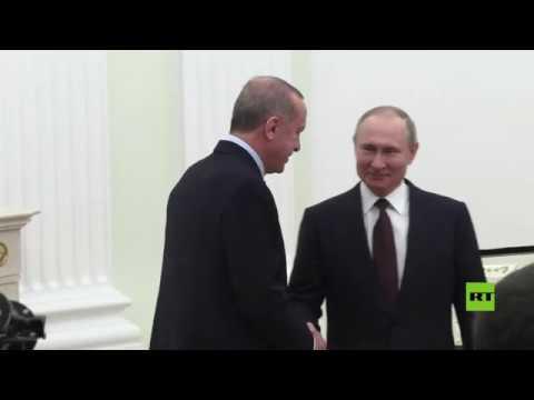 شاهد كواليس لقاء بوتين وأردوغان