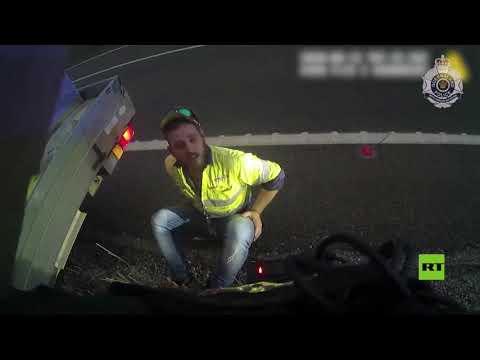 أسترالي يفلت من مخالفة السرعة بعد معركة مع ثعبان في السيارة