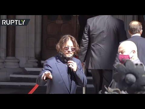 النجم جوني ديب وطليقته أمبر هيرد أمام المحكمة العليا في قضية التشهير