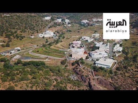 شاهد جولة داخل مدينة سياحية في منطقة عسير السعودية