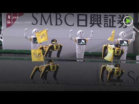 روبوتات مكان المتفرجين خلال مباراة بيسبول في طوكيو بسبب كورونا