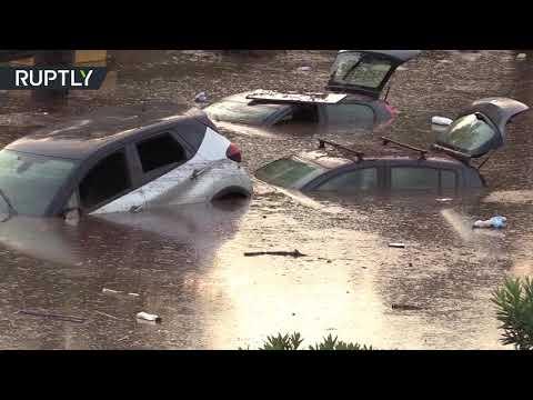 شاهد لقطات جديدة من فيضانات باليرمو التي أودت بحياة شخصين على الأقل