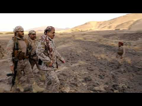 شاهد زيارة وزير الدفاع الفريق المقدشي لجبهة المشجح غربي مأرب